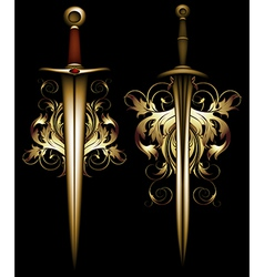 ancient ornate arms vector image