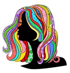 Beautiful profile vector image