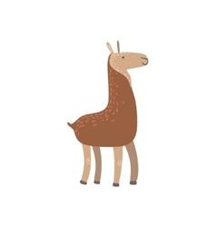 Brown Llama Standing vector image vector image