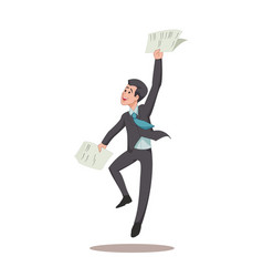 businessman or manager is jumping for joy with vector image vector image
