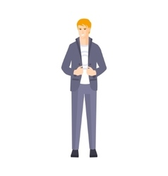 Guy in suit with white t-shirt part of the vector