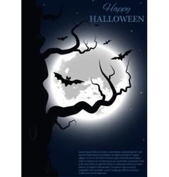 Halloween party design template vector image