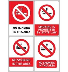 label set no smoking vector image vector image