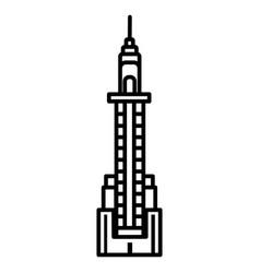 skyscraper line icon sign on vector image