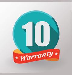 10 warranty label vector