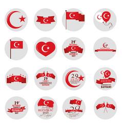 29 october republic turkey vector