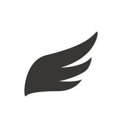 Abstract black wing icon simple style vector