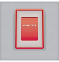 abstract simple red picture frame vector image