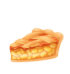 Apple pie slice vector