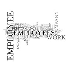 Are you in awe of your employees text word cloud vector