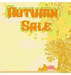 autumn shopping - sale vector image