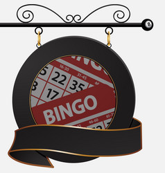 Black bingo cafe sign and banner vector