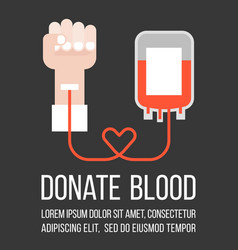 Blood donation flat style vector