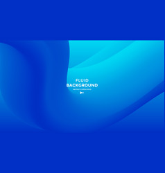 Blue abstract fluid wave modern gradient shape vector