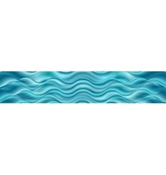 Bright blue wavy header banner vector