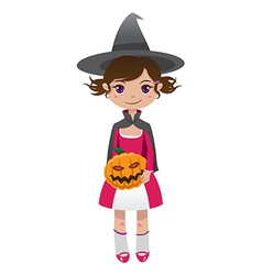 brownhair witch vector image