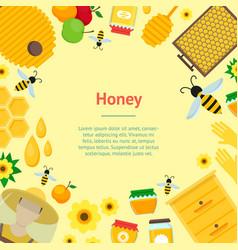 cartoon honey banner card vector image