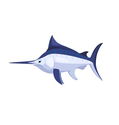 Cartoon isolated marlin vector