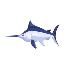 cartoon isolated marlin vector image