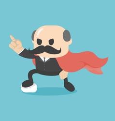 Cartoon super businessman showing confidence vector