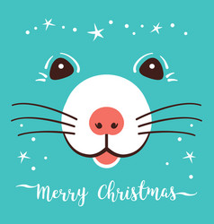 Christmas cartoon rat greeting cards merry vector