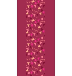 Christmas decorations flags vertical border vector
