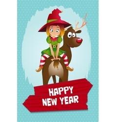 Christmas Elf Card vector