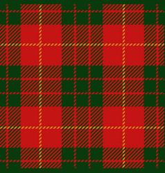 christmas tartan plaid seamless pattern vector image
