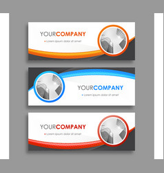 Colorful web banners vector