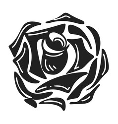 daisy rose icon simple style vector image