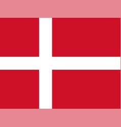 denmark dannebrog danish flag vector image