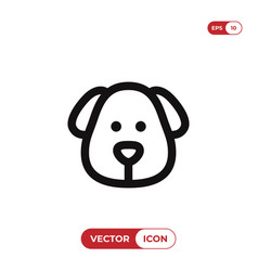 dog head icon vector image