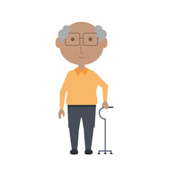 Elderly man icon vector