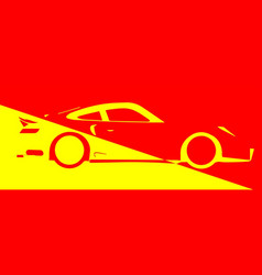 Fast car abstract vector