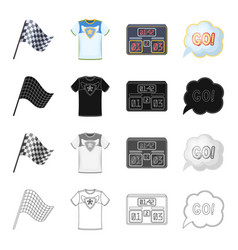 flag sports symbol and other web icon in cartoon vector image