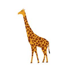 Giraffe mammal icon side view animal character vector