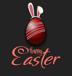 Happy easter cricket ball in form a egg vector