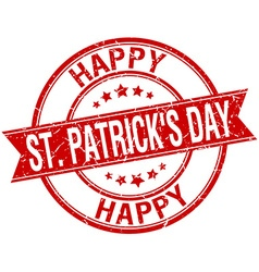 Happy st Patricks day grunge retro red isolated vector