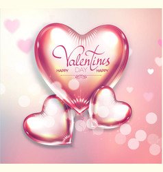 happy valentine s day soft background with flying vector image