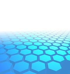 Hexagon tile perspective blue background vector