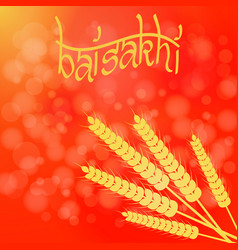holiday baisakhi new year of the sikhs vector image