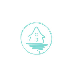 home emblem vector image