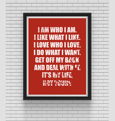 inspirational and motivational quotes poster vector image