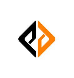 letter p d vector image