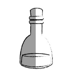 Lotion glass bottle icon vector