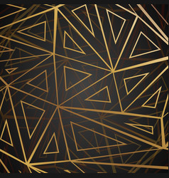 low polygonal gold web abstract geometric vector image