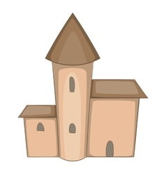 Medieval castle icon cartoon style vector