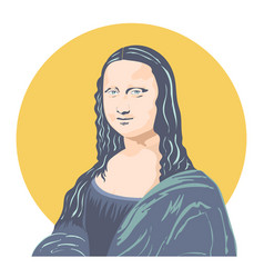 mona lisa vector image