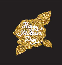 mothers day golden card happy mom day vector image