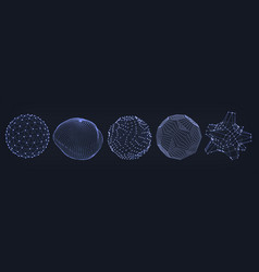 net sphere realistic abstract shape vector image
